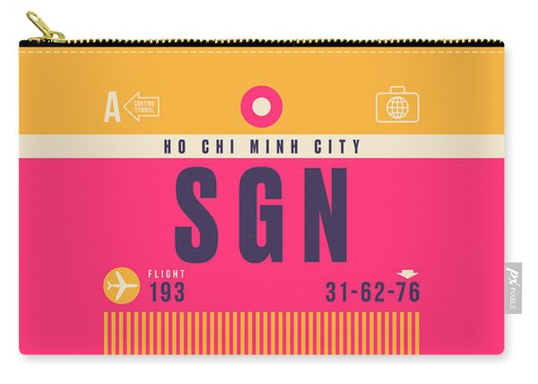 Retro Airline Luggage Tag - Sgn Ho Chi Minh City Vietnam Carry-all Pouch