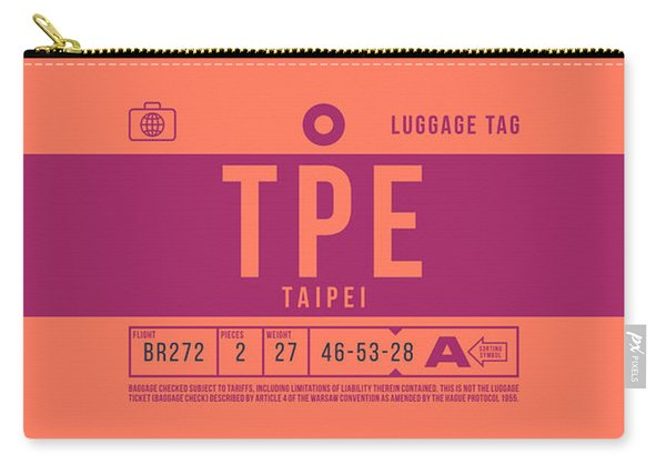 Retro Airline Luggage Tag 2.0 - Tpe Taipei Taoyuan Airport Taiwan Carry-all Pouch