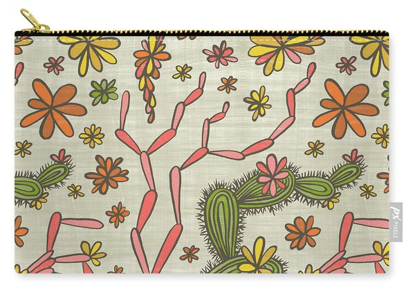 Flowering Cacti Elements Carry-all Pouch