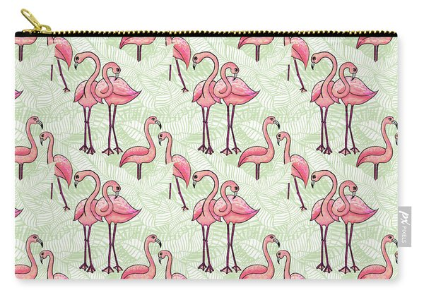 Flamingo Pattern Carry-all Pouch