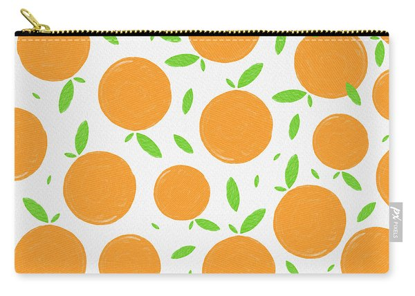 Sunny Citrus Pattern Carry-all Pouch