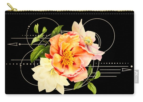 Floral Abstraction Carry-all Pouch