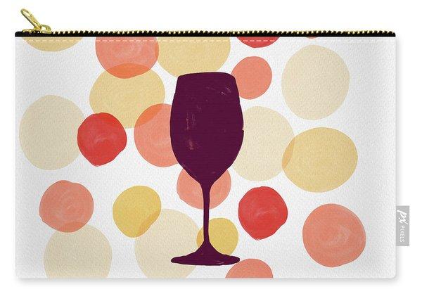 Bold Modern Wine Glass Art Carry-all Pouch