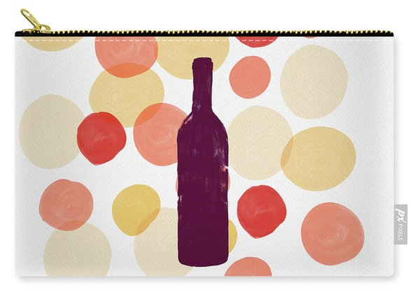 Bold Modern Wine Bottle Art Carry-all Pouch