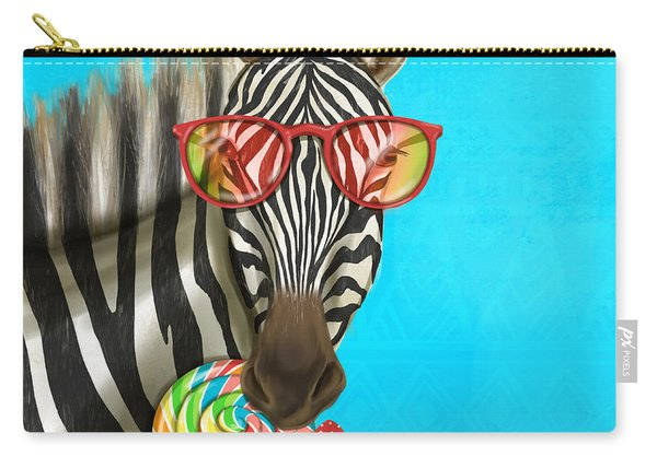 Party Safari Zebra Carry-all Pouch