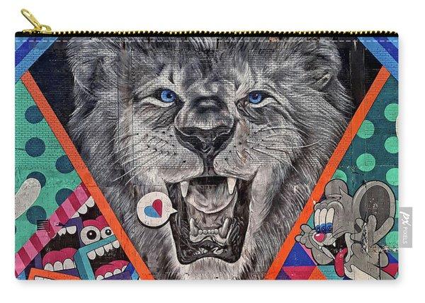 Detroit Lion Mural Carry-all Pouch