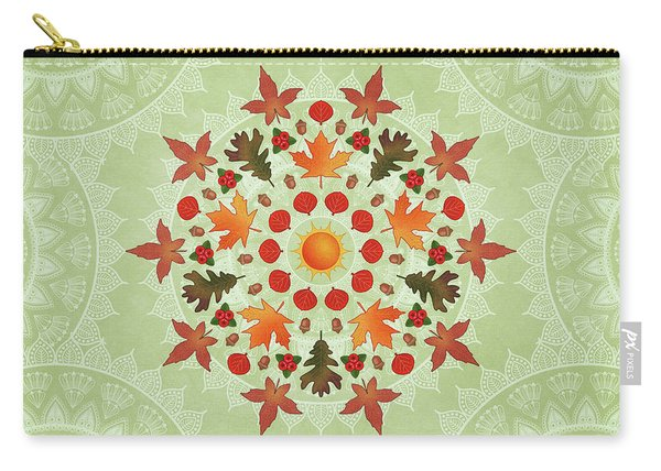 Autumn Mandala Carry-all Pouch