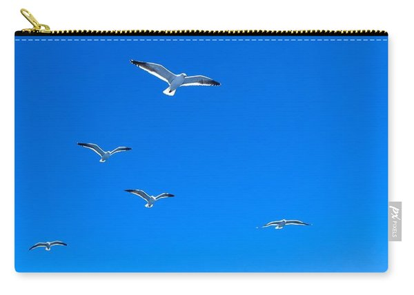 Group Of Seagulls On Blue Sky In The Argentine Patagonia Carry-all Pouch