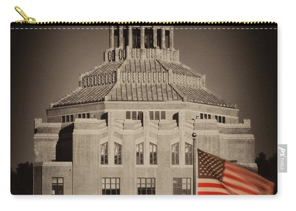 Asheville City Hall Sepia Carry-all Pouch