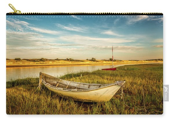Carry-all Pouch featuring the photograph Ashore by Jeff Sinon