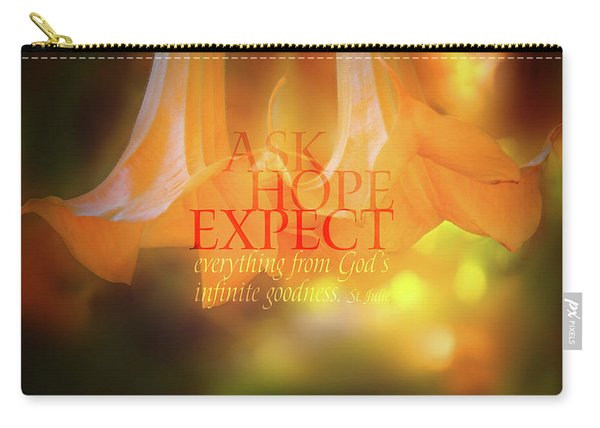 Ask Hope Expect Flower Carry-all Pouch