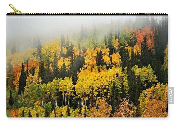 Aspens In Fog Carry-all Pouch