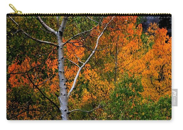 Aspens In Orange Carry-all Pouch