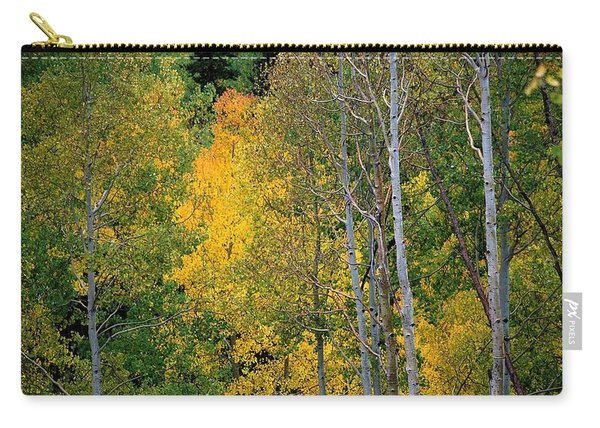 Aspens In Yellow Carry-all Pouch