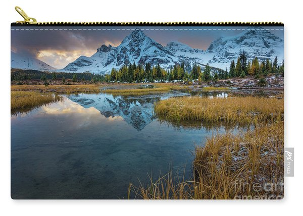 Assiniborne Tarn At Twilight Carry-all Pouch