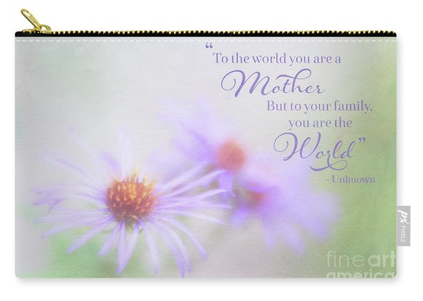 Asters For Mother's Day Carry-all Pouch