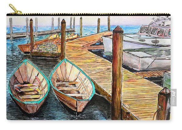 At The Dock In Gloucester Massachusetts Carry-all Pouch