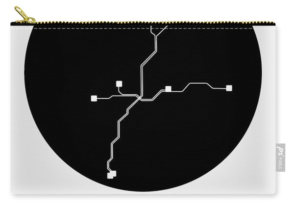 Atlanta Black Subway Map Carry-all Pouch
