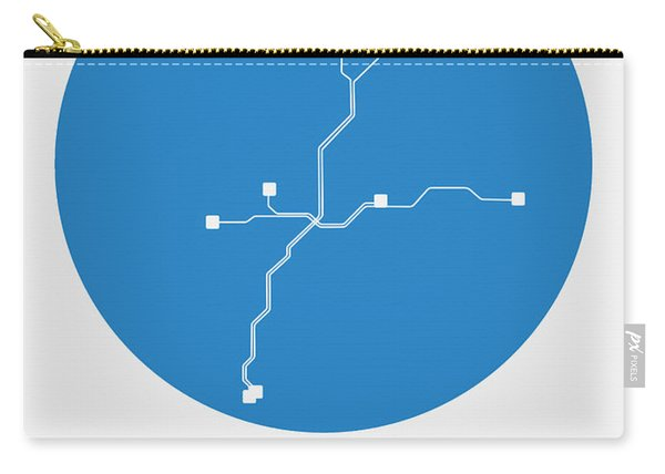 Atlanta Blue Subway Map Carry-all Pouch