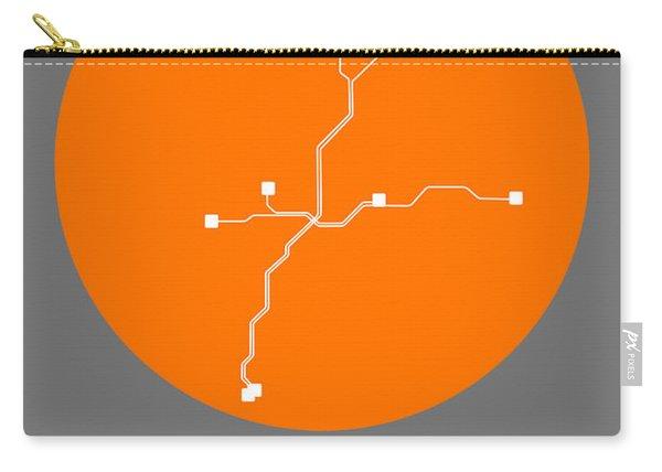 Atlanta Orange Subway Map Carry-all Pouch
