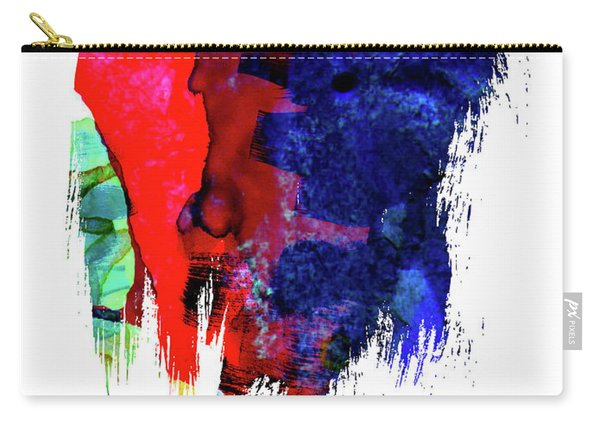 Atlanta Skyline Brush Stroke Watercolor   Carry-all Pouch