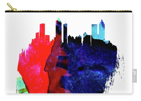 Atlanta Skyline Brush Stroke Watercolor   Carry-all Pouch
