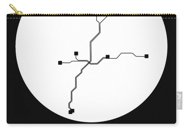 Atlanta White Subway Map Carry-all Pouch