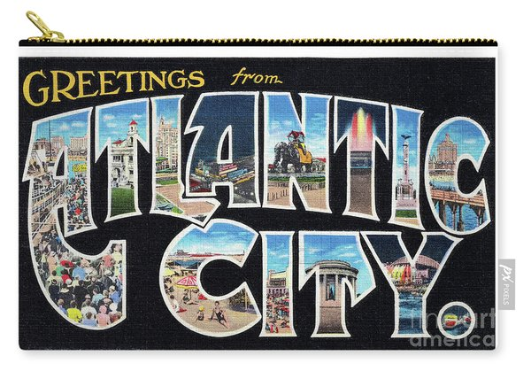 Atlantic City Greetings #2 Carry-all Pouch