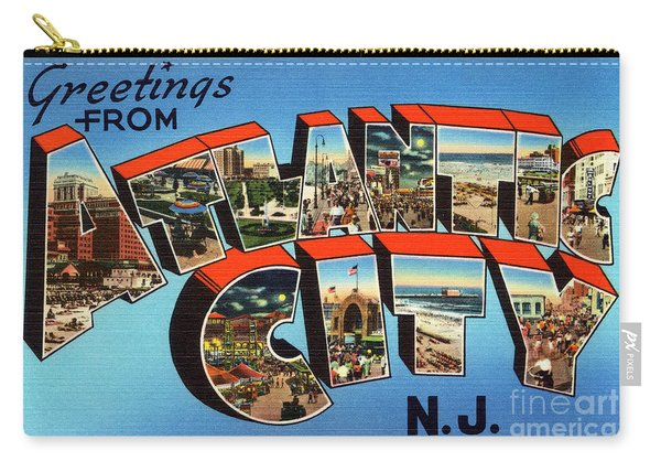 Atlantic City Greetings #3 Carry-all Pouch