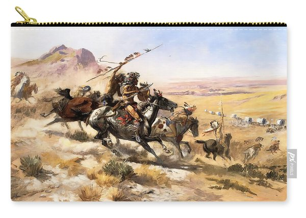 Attack On The Wagon Train Carry-all Pouch