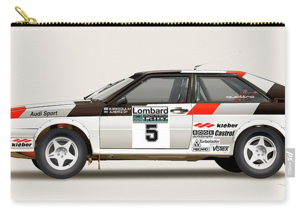 Audi Quattro Side Illustration Carry-all Pouch