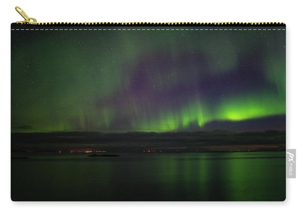 Aurora Borealis Reflecting At The Sea Surface Carry-all Pouch