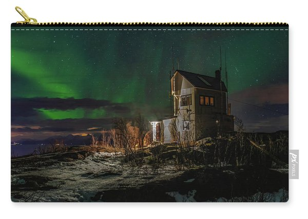 Aurora Over The Radio Station Carry-all Pouch