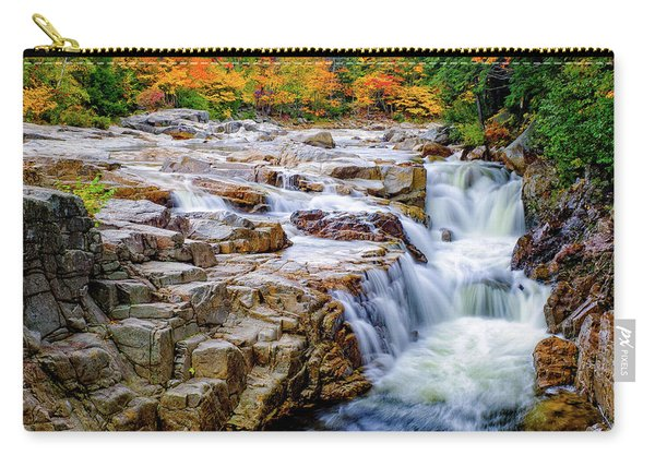 Carry-all Pouch featuring the photograph Autumn Color At Rocky Gorge by Jeff Sinon