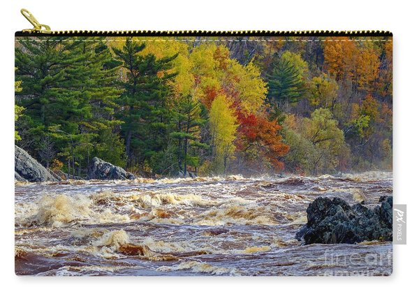 Autumn Colors And Rushing Rapids   Carry-all Pouch