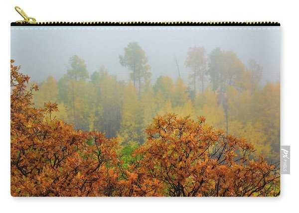 Carry-all Pouch featuring the photograph Autumn Foggy Day by John De Bord