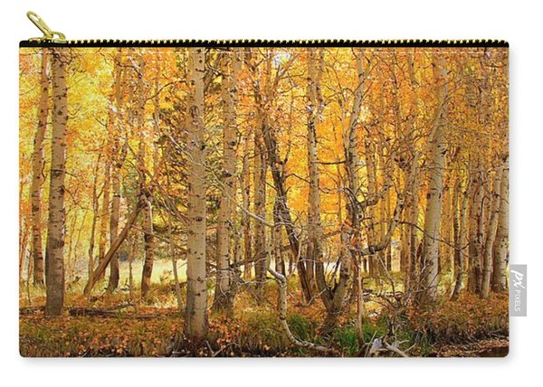 Carry-all Pouch featuring the photograph Autumn Gold Rush by Sean Sarsfield