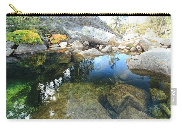 Carry-all Pouch featuring the photograph Autumn Liquid Dreamscape by Sean Sarsfield