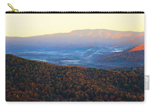 Carry-all Pouch featuring the photograph Autumn Mountains  by Candice Trimble