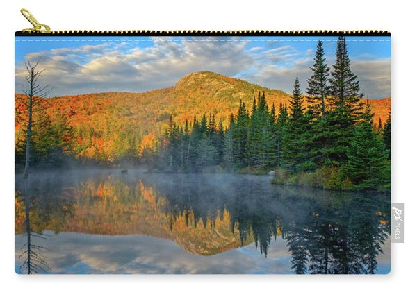 Carry-all Pouch featuring the photograph Autumn Sky, Mountain Pond by Jeff Sinon