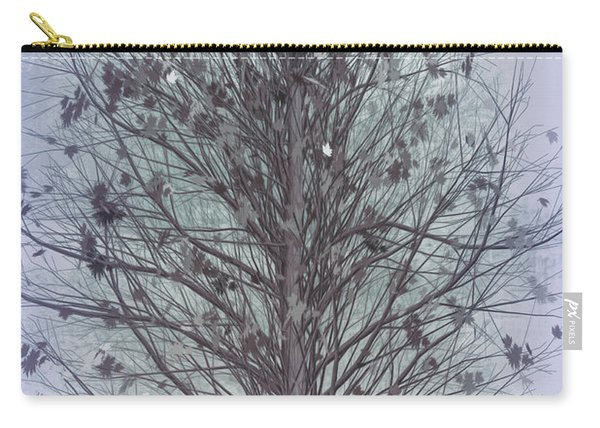 Autumn Tree In Cool Grays Carry-all Pouch