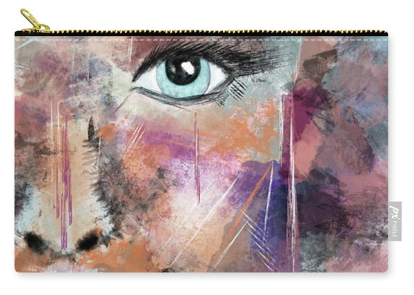 Autumn - Woman Abstract Art Carry-all Pouch