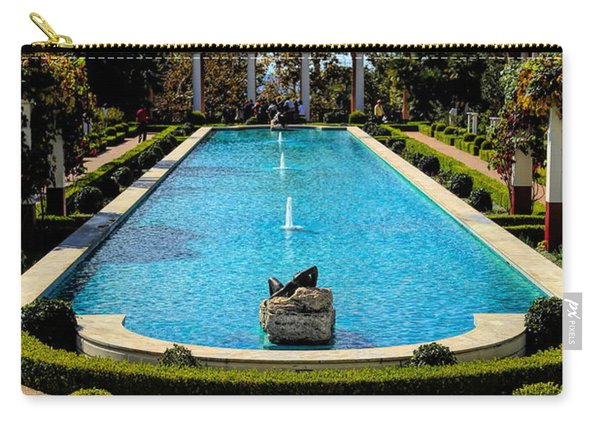 Awesome View Getty Villa Pool  Carry-all Pouch