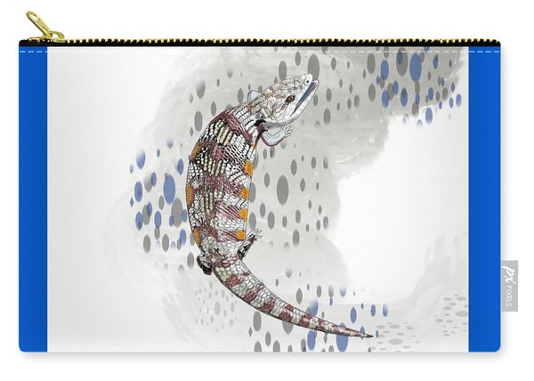 B Is For Blue Tongue Lizard Carry-all Pouch