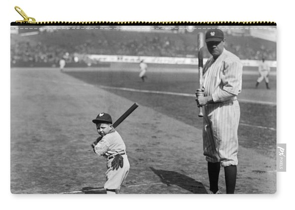 Babe Ruth And The Team Mascot Carry-all Pouch