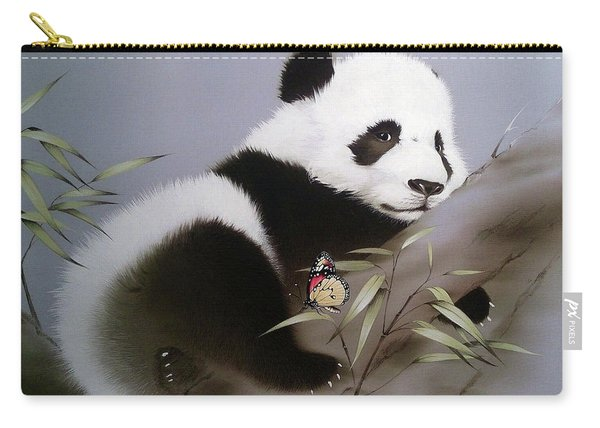 Baby Panda And Butterfly Carry-all Pouch