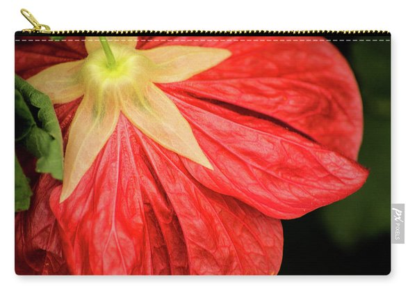 Back Of Red Flower Carry-all Pouch
