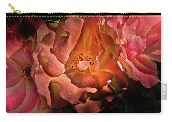 Backyard Flowers 40 Color Version Carry-all Pouch