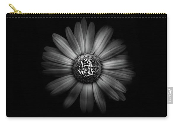 Backyard Flowers In Black And White 31 Carry-all Pouch