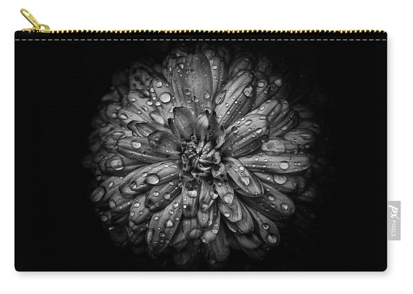 Backyard Flowers In Black And White 44 Carry-all Pouch